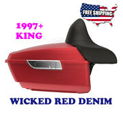 Us Stock Wicked Red Denim King Tour Pack Pak Fit 1997-2020 Harley Road Street