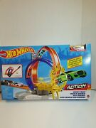 Hot Wheels Energy Track Set Power Loops Playset With Gold Car New Hotwheels