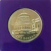 World Coin - 1978 New Zealand One Dollar Commemorative Issue Coin Km47 Free Ship