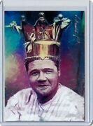 Sp14y Yankees Babe Ruth 69 Aceo Art Sketch Card Hand Signed By Artist 50/50