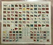 Chart Of World's Flags 1719 Henri Chatelain Large Nice Antique Plate 18e Century