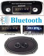 1967-1968 Mustang Bluetooth Radio + Dash Speaker Fits Non Factory Ac Cars 740