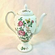 Wedgwood Charnwood Coffee Pot Lid 4 Cup Blk Stamp R3984 Butterfly Bee England
