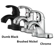 Bathroom Basin Sink Faucet Lavatory Vanity 4and039and039 Single Handle 3 Holes Mixer Tap