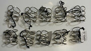 Silver Tone Twisted Hammered Metal Wire Infinity Napkin Rings Set Of 10 New