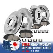 Front And Rear Brake Disc Rotors And Ceramic Pads For Infiniti Qx56 Nissan Armada