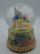Musical Snow Globe With Cat And Butterfly Plays Everything Is Beautiful