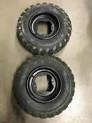 Front Oem Wheels And Maxxis Tires 10x5 Yfz450r Banshee Blaster Raptor 21x7x10