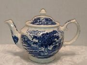 Vintage Blue Willow Windsor China Teapot Made In England