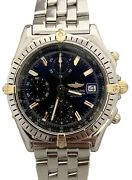 Breitling Chronomat 18k Gold And Steel Auto Black Dial 39mm D13050 Watch