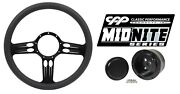 Cpp Continental Black Billet Steering Wheel Hub Horn Button Combo Package