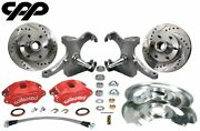 1960-62 Chevy C10 Gmc Truck Red D52 Wilwood Disc Brake 6 Lug Conversion Kit