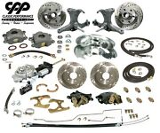 71-72 Chevy C10 Truck 12 Front 11 Rear Brake Kit Stock Spindles 5x5 Hydra Stop