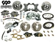 73-87 Chevy C10 Truck 12 Front 11 Rear Brake Kit Drop Spindles 5x5 Hydra Stop