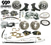 67 70 Chevy C10 Front And Rear Brake Kit Modular Drop Spindle 5 Lug Show Stopper