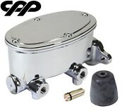 67-69 Chevy Camaro Cpp Chrome Tandem Oval Aluminum Master Cylinder 1 1/8 Bore
