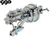 61-64 Ford F-100 F100 Truck Chrome Power Brake Booster Conversion Kit Disc Disc