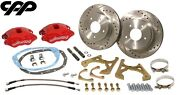 1968-69 Chevy Camaro Rs Ss Z/28 Red Wilwood D52 Rear Disc Brake Conversion Kit