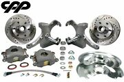 73-87 Chevy Gmc C10 Truck 12 Drilled Disc Brake 6 Lug Kit W/ 2.5 Drop Spindle