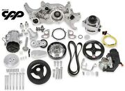 Holley 20-185p Polished Ls Engine Mid Mount Complete Accessory Pulley Drive Kit