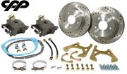Gm 10 / 12 Bolt Rear End Axle Disc Brake Conversion Kit For Staggered Shocks