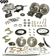 58 64 Chevy Belair Nomad Front Rear Disc Brake Kit Stock Height Hydrastop