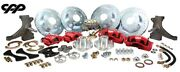 63-66 Chevy C10 Truck 13 Front And 12 Rear Big Brake Kit W/ Drop Spindles 5x5