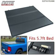 Hard 3-fold Tonneau Cover 5.7ft Short Bed Fit For 09-21 Dodge Ram 1500 Crew Cab