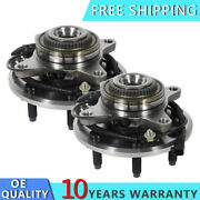 Front Wheel Hub Bearing Assembly Pair For 4wd 2011 2012 - 2014 Ford F-150 W/abs