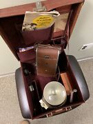 Polaroid Land Camera Speedliner With Leather Case And More Model 95a 1940's