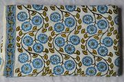 Hand-block Print Floral Cotton Fabric Indian Sewing Material 500 Yard Print_720