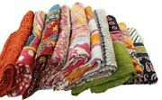 5 Pc Vintage Handmade Kantha Quilt Blanket Indian Quilts Bedspread Twin Throw