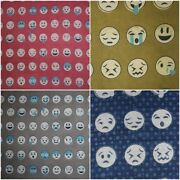 Indian Hand Block Print With Smiley Design Soft Fabric 100cotton Natural Print