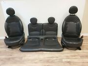 2009-2015 Mini Cooper Conv. R57 Front Heated Seats And Rear Set Black Leaher Oem