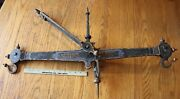 Antique Herbert And Sons Mercantile Balance Scale Hand Wrought Iron London Vintage