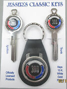 1969 Chrysler 300 Rare White Gold Deluxe Classic 3 Pc Muscle Car Key Set