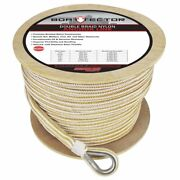 Extreme Max Db Nylon Anchor Line 3/4 600and039 White/gold 3006.2349