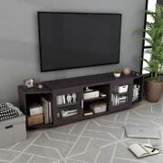 Tvs Up To 70 Inches 72-inch Tv Stand Storage Side Shelves Cabinets Cappuccino