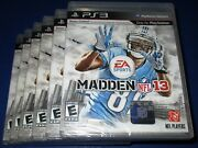 Lot Of 6 Madden Nfl 13 Sony Playstation 3 - Ps3 - Factory Sealed Free Ship