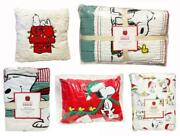 New Pottery Barn Kids Snoopy Peanuts Holiday Christmas Quilt Full Bedding Set