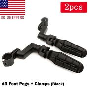 Motorcycle 1 Highway Engine Guard Foot Pegs Mount Clamps For Honda Goldwing Usa