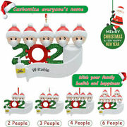 2020 Personalized Xmas Christmas Tree Hanging Ornaments Family Home Decor Gifts