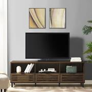 Modern 70-inch Storage Tv Stand Console Flat Panel Tvs Up To 80 Inches 3 Drawers