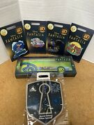 Fantasia 80th Anniversary Lr Mickey Mouse Complete Set Pin And Key Disney