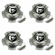 4x Fuel Off-road Wheels Machined Grey Wheel Center Hub Caps 5-3/4od Bolt-on For