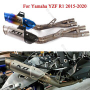 Mid Pipe For Yamaha Yzf R1 Mt10 2015-2020 Exhaust System Muffler Tips Link Tube