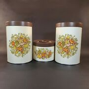 Vintage Ballonoff 6 Piece Canister Set Plastic Lids Vegetable Spices And Nuts Usa