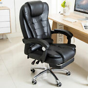 Ergonomic Reclining Massage Office Computer Chair Gaming Chair W/ Footrest