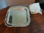 Oneida Silver Plated Tray Royal Provencial 15 1/2 L With Box  Beautiful