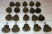 20 Amerock 1336-1 Cabinet Chest Pull Knobs Burnished Brass Flowers Heavy Duty
